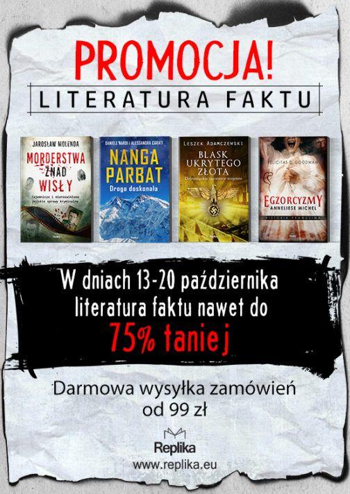Literatura faktu promocja - okładka www